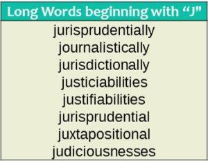 Long words - J
