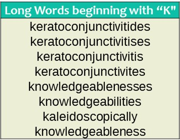 Words that start with k wordrequest longest words that start with k sciox Images