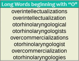 Long words - O