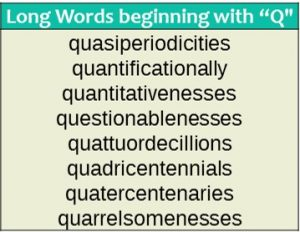 Long words - Q