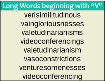 words that start with v wordrequest com