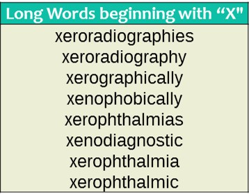 Three Letter Words Starting With X | Sample Letters Formats