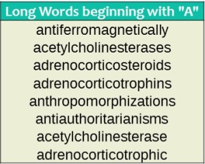 Long-words-that start-with-A